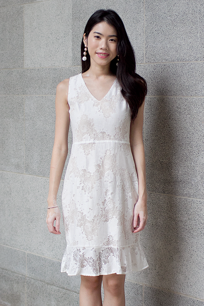 Annmari Lace Dress (White)