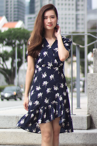 Cassidy Floral Dress (Navy)