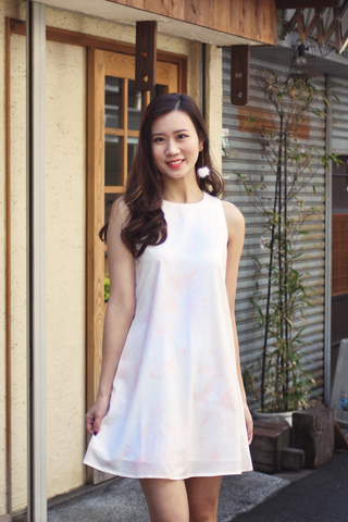 Elora Floral Dress (Peach)