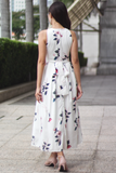 Stacelle Floral Maxi Dress (White)