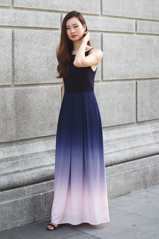 Rae Ombre Maxi Dress (Sweet Navy)