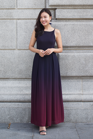 Rae Ombre Maxi Dress (Midnight Flame)
