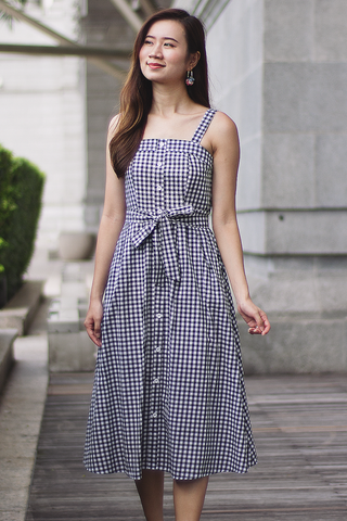 Riveria Midi Dress (Gingham)