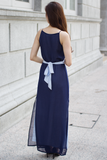 Ashlie Colour Contrast Maxi Dress (Navy)