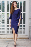 Kinsley Fitted Dress (Navy)