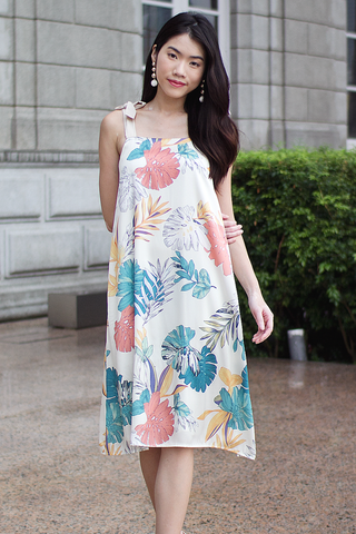 Ginett Tropical Dress (Cream)