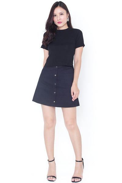 Erabel Split Sleeve Top (Black)