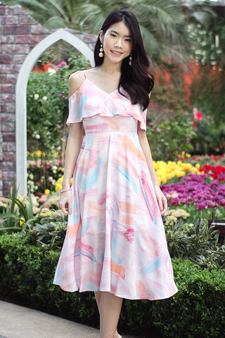 Adela Midi Dress (Paddle Pop)