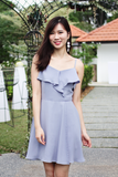 Kandie Flutter Dress (Ash Blue)