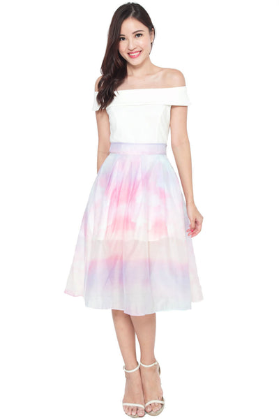 Therise Cotton Candy Pleat Skirt