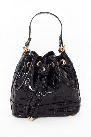 Emilian Mini Bucket Bag (Black)
