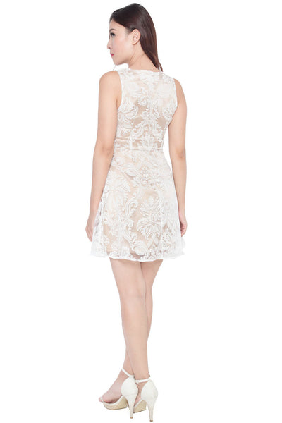 Arebelle Lace Overlay Dress