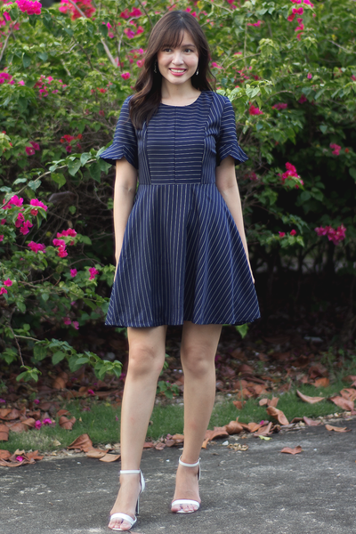 Felisie Pinstripe Dress