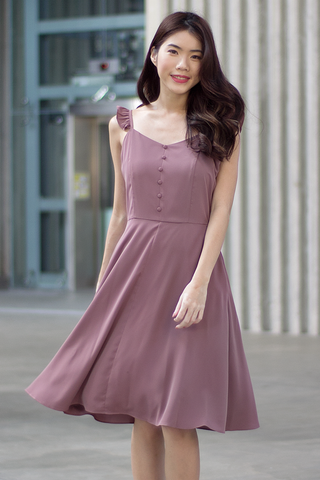 Resley Flutter Dress (Mauve)