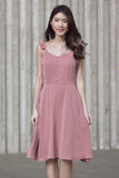 Resley Flutter Dress (Rose)
