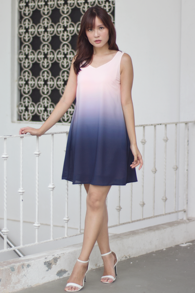 Ferlane Ombre Dress (Sweet Navy)
