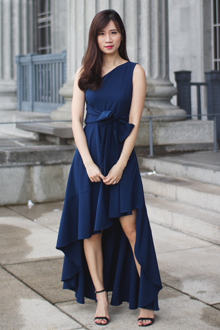 Vallenia Maxi Dress (Navy)