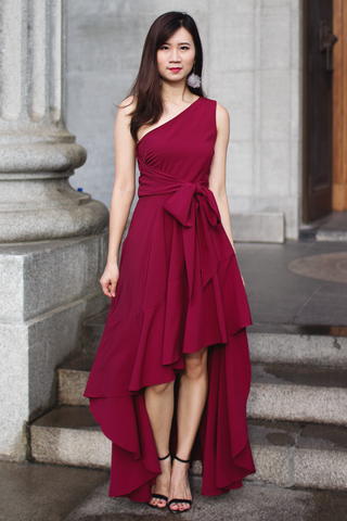 Vallenia Maxi Dress (Wine)