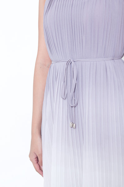 Fairline Ombre Pleated Dress (Lilac Grey)