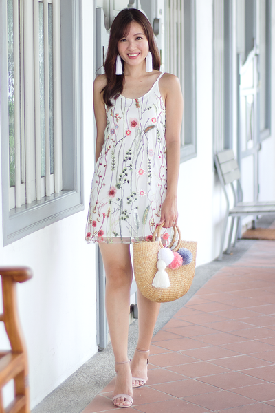 Mackenzie Floral Reversible Dress (White)