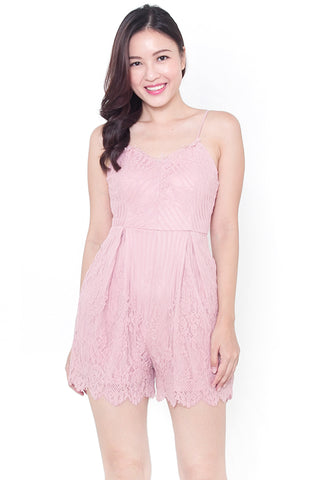 Carsel Lace Romper (Rose)