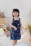 Mykalie Confetti Dress (Navy)