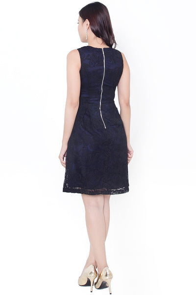 Trisel Lace Dress (Black)