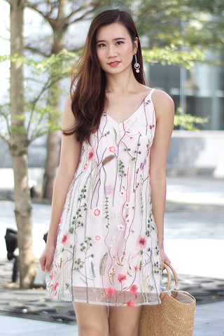 Mackenzie Floral Reversible Dress (Pink)