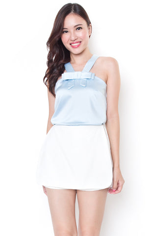 Tayley Ribbon Top (Powder Blue)