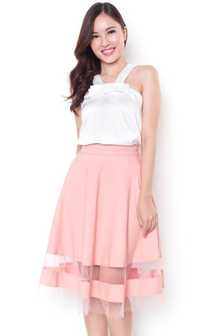 Tayley Ribbon Top (White)