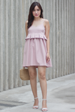 Fallery Babydoll Dress Romper (Blush)