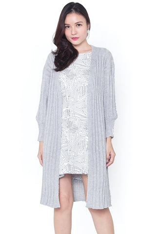 Merri Knit Coat (Slate Grey)
