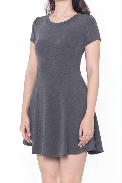 Alle Fit & Flare Dress (Grey)