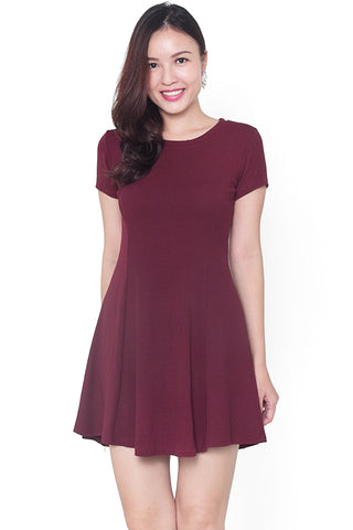 Alle Fit & Flare Dress (Red)