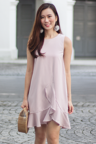 Caslle Gingham Dress (Pink)