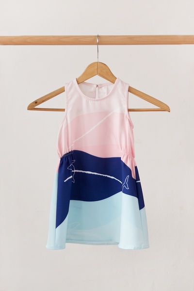 Esmme Abstract Dress (Navy)