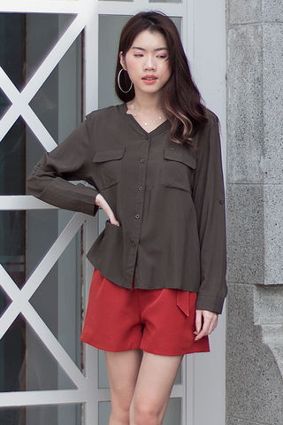 Jazery Blouse (Army Green)