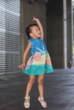 Kelisey Abstract Dress (Tropical)