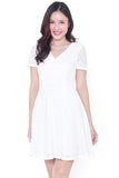 Caltie Crochet Dress (White)