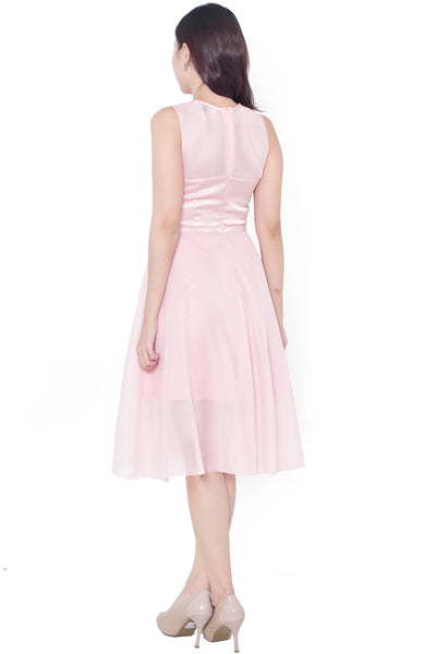 Alivia Sweetheart Mesh Dress (Pink)