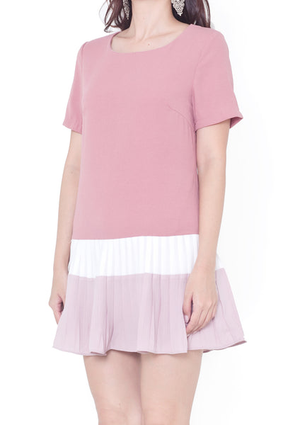 Middleton Colorblock Dress (Vintage Rose)