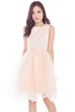 Elyne Tulle Convertible Dress (Pink)
