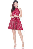 Calest Lace Dress (Red)