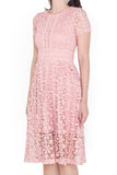 Lelline Crochet Midi Dress (Blush)