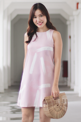 Trinley Abstract Dress (Pink)