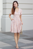 Clairie Floral Dress (Blush)