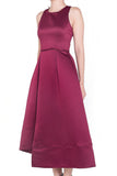 Finette Asymmetrical Maxi Dress (Wine)