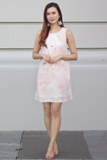 Rayelle Watercolour Dress (Peach-Pink)