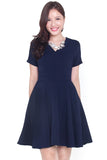Credance Skater Dress (Navy)