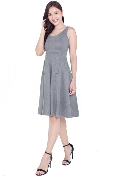 Gemma Midi Dress (Heather Grey)
